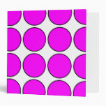 Stylish Gifts for Girls : Pink Polka Dots on White Binders