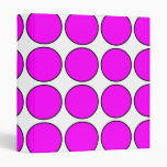 Stylish Gifts for Girls : Pink Polka Dots on White Binder