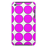 Stylish Gifts for Girls : Pink Polka Dots on White Barely There iPod Cases