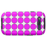 Stylish Gifts for Girls : Pink Polka Dots on White Galaxy SIII Cover