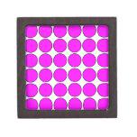 Stylish Gifts for Girls : Pink Polka Dots on White Premium Keepsake Boxes