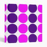Stylish Gifts for Girls : Pink & Purple Polka Dots Binder