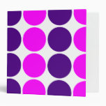 Stylish Gifts for Girls : Pink & Purple Polka Dots Binders