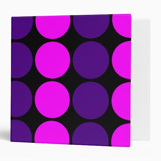 Stylish Gifts for Girls : Pink & Purple Polka Dots Vinyl Binders