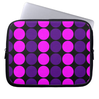Stylish Gifts for Girls : Pink & Purple Polka Dots Computer Sleeve