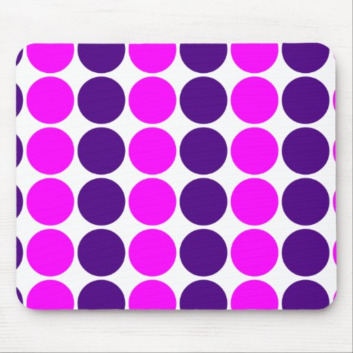 Stylish Gifts for Girls : Pink & Purple Polka Dots Mouse Pad