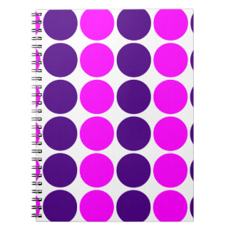 Stylish Gifts for Girls : Pink & Purple Polka Dots Spiral Notebooks
