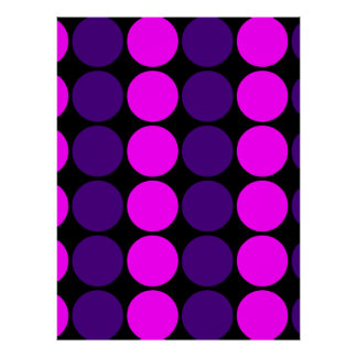 Stylish Gifts for Girls : Pink & Purple Polka Dots Posters