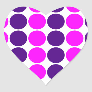 Stylish Gifts for Girls : Pink & Purple Polka Dots Heart Stickers