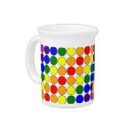 Stylish Gifts for Girls : Rainbow Polka Dots Drink Pitcher