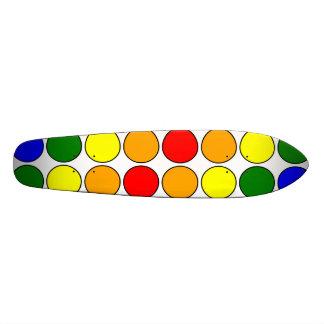 Stylish Gifts for Girls : Rainbow Polka Dots Skateboard Deck