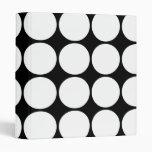Stylish Gifts for Girls : White Polka Dots Binders