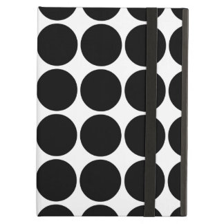 Stylish Gifts for Her : Black Polka Dots iPad Air Cases