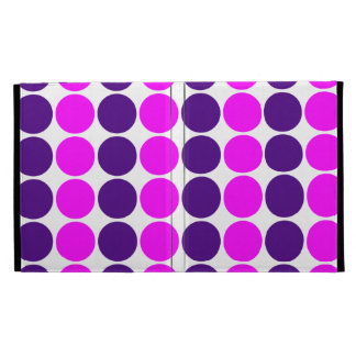 Stylish Gifts for Her Purple Pink Polka Dots iPad Case