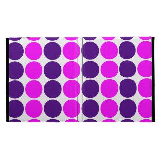 Stylish Gifts for Her : Purple & Pink Polka Dots iPad Folio Covers