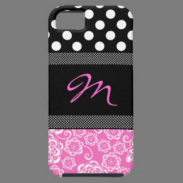 Stylish Girly Monogram iphone 5 Case