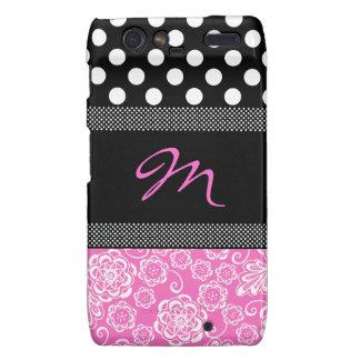 Stylish Girly Monogram Motorola Razr Case Motorola Droid RAZR Cover