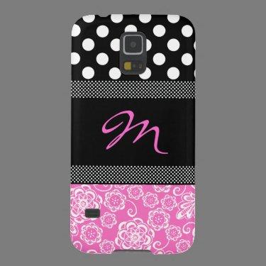Stylish Girly Monogram Samsung Galaxy Nexus Case