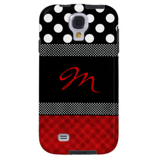 Stylish Girly Monogram Samsung Galaxy S4 Case