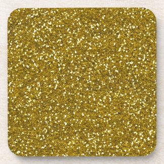Stylish Glitter Gold Coaster