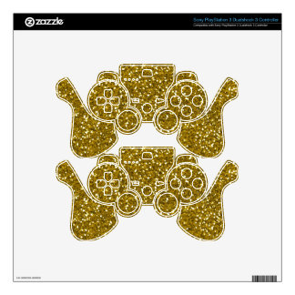 Stylish Glitter Gold Decal For PS3 Controller