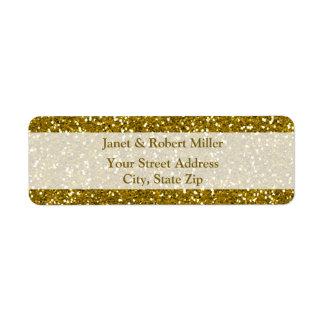 Stylish Glitter Gold Label