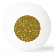 Stylish Glitter Gold Ping-Pong Ball