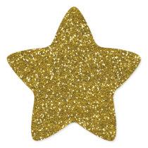 Stylish Glitter Gold Star Sticker