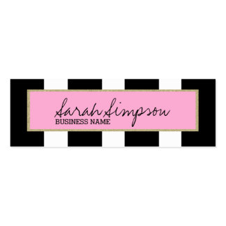 stylish glitter stripes mini business card