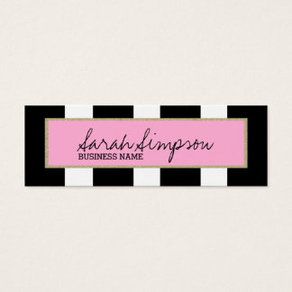 stylish glitter stripes mini business card