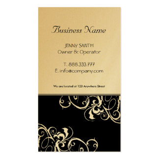 Stylish Gold & Black Business Cards
