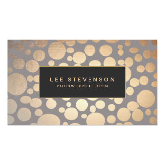 Stylish Gold Circle Pattern Beauty Salon Double-Sided Standard Business Cards (Pack Of 100)
