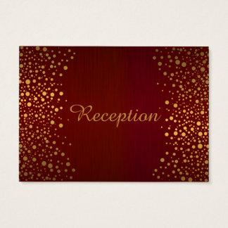 Stylish Gold Confetti Dots | Deep Dark Red Business Card