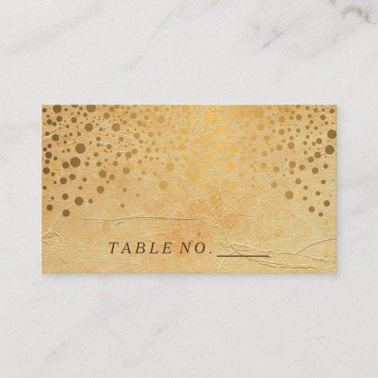 stylish gold confetti dots vintage place cards zazzle com