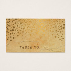 Stylish Gold Confetti Dots | Vintage  Place Cards at Zazzle