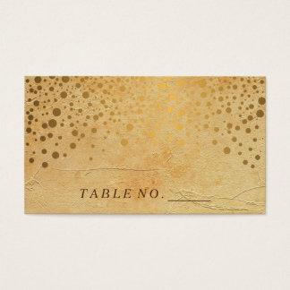 Stylish Gold Confetti Dots   Vintage  Place Cards