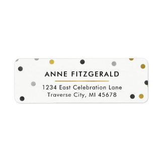 Stylish Gold Confetti Return Address Labels