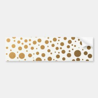 Stylish Gold Foil Confetti Dots Bumper Sticker