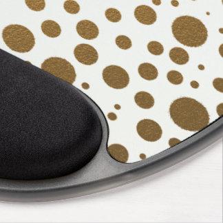Stylish Gold Foil Confetti Dots Gel Mouse Pad