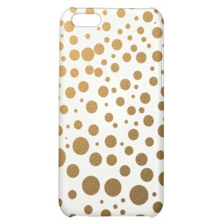 Stylish Gold Foil Confetti Dots iPhone 5C Cases