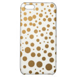 Stylish Gold Foil Confetti Dots iPhone 5C Cases