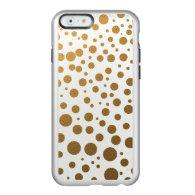Stylish Gold Foil Confetti Dots Incipio Feather® Shine iPhone 6 Case