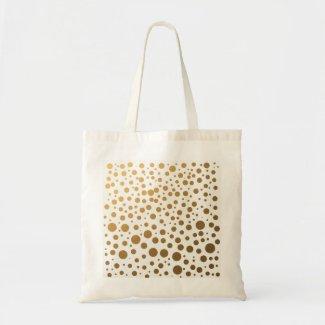 Stylish Gold Foil Confetti Dots Jumbo Tote Bag