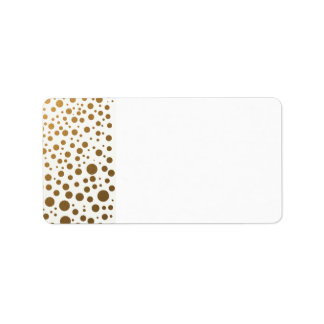 Stylish Gold Foil Confetti Dots Address Label