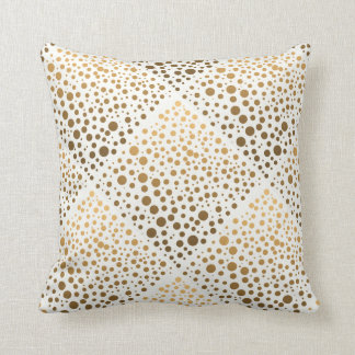Stylish Gold Foil Confetti Dots Pillow