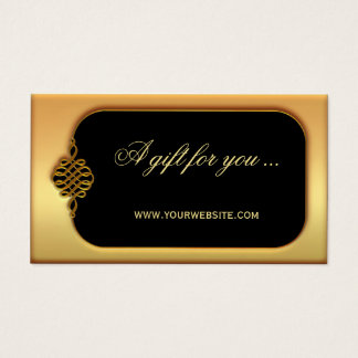 Stylish Gold Gift Certificate Template