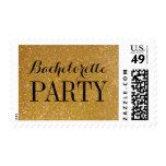 Stylish gold glitter bachelorette party stamps