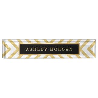 Stylish Gold Glitter Modern Premium Luxury Look Name Plate