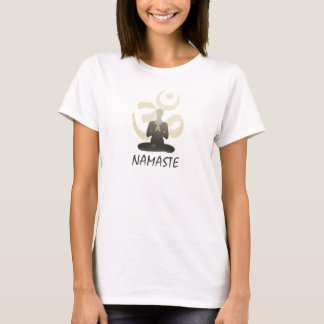 Stylish Gold Om Aum Namaste Yoga T-Shirt