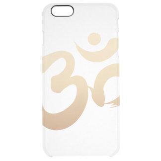 Stylish Gold Om Symbol Yoga Clear iPhone 6 Plus Case